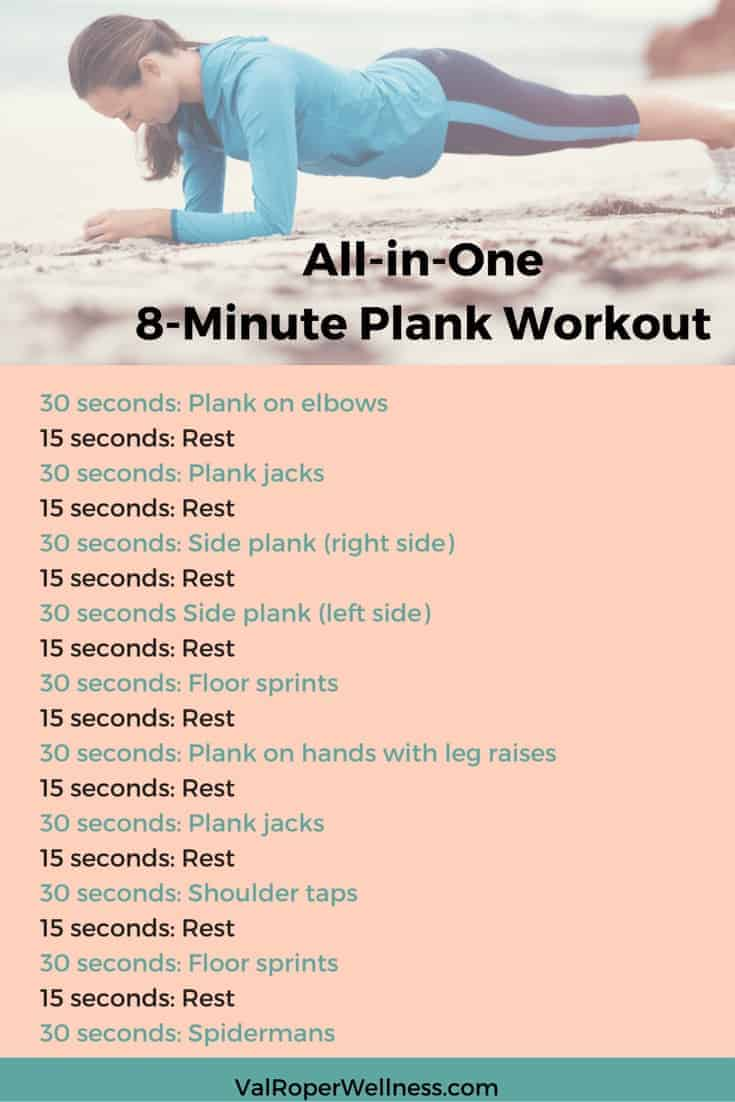 All-in-One 8-minute plank workout