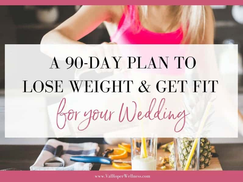 A 90-day plan to lose weight & get fit for your wedding