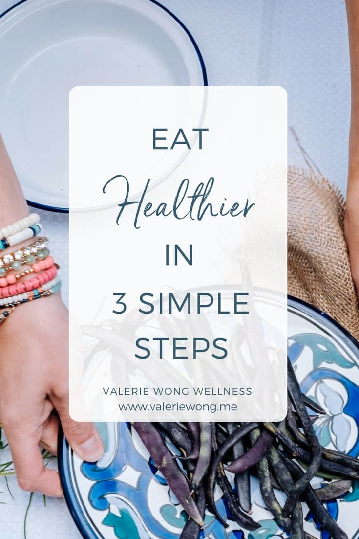 Eat healthier in 3 simple steps via @valeriewonglifecoach