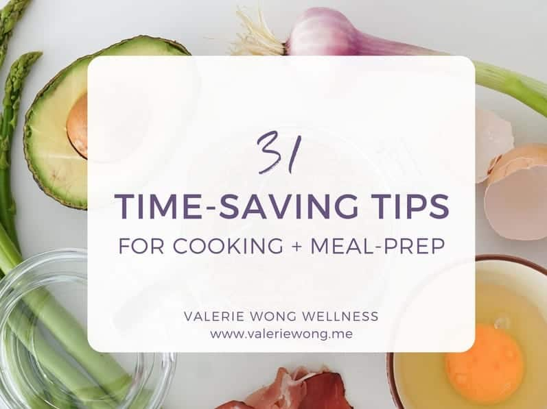 Time-saving tips for cooking and meal-prep. Save time each week while meal prepping!