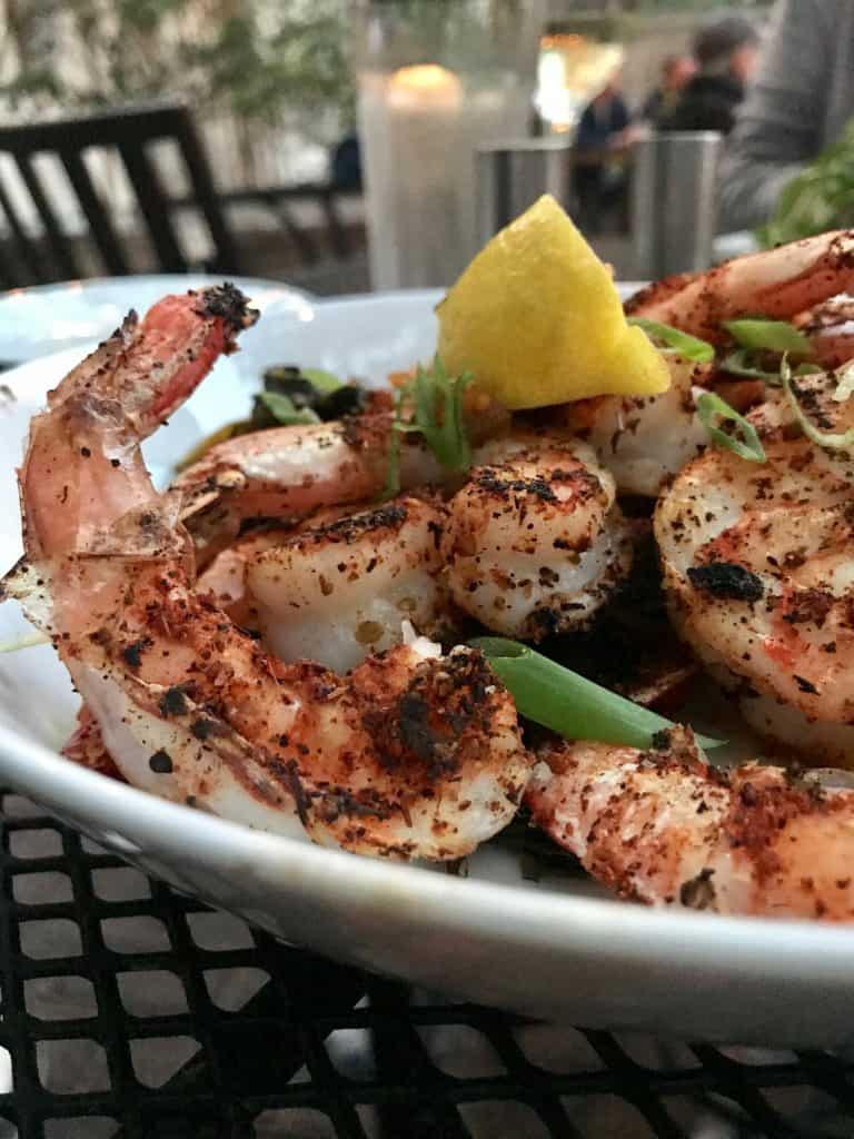 a close-up picture of shrimp and grits from Catch 27 restaurant