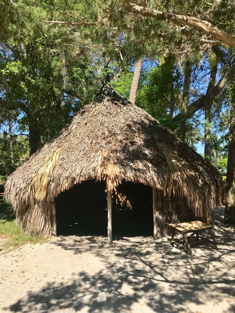 pictureof a thatched roof house - Fountain of Youth Archaeological Park