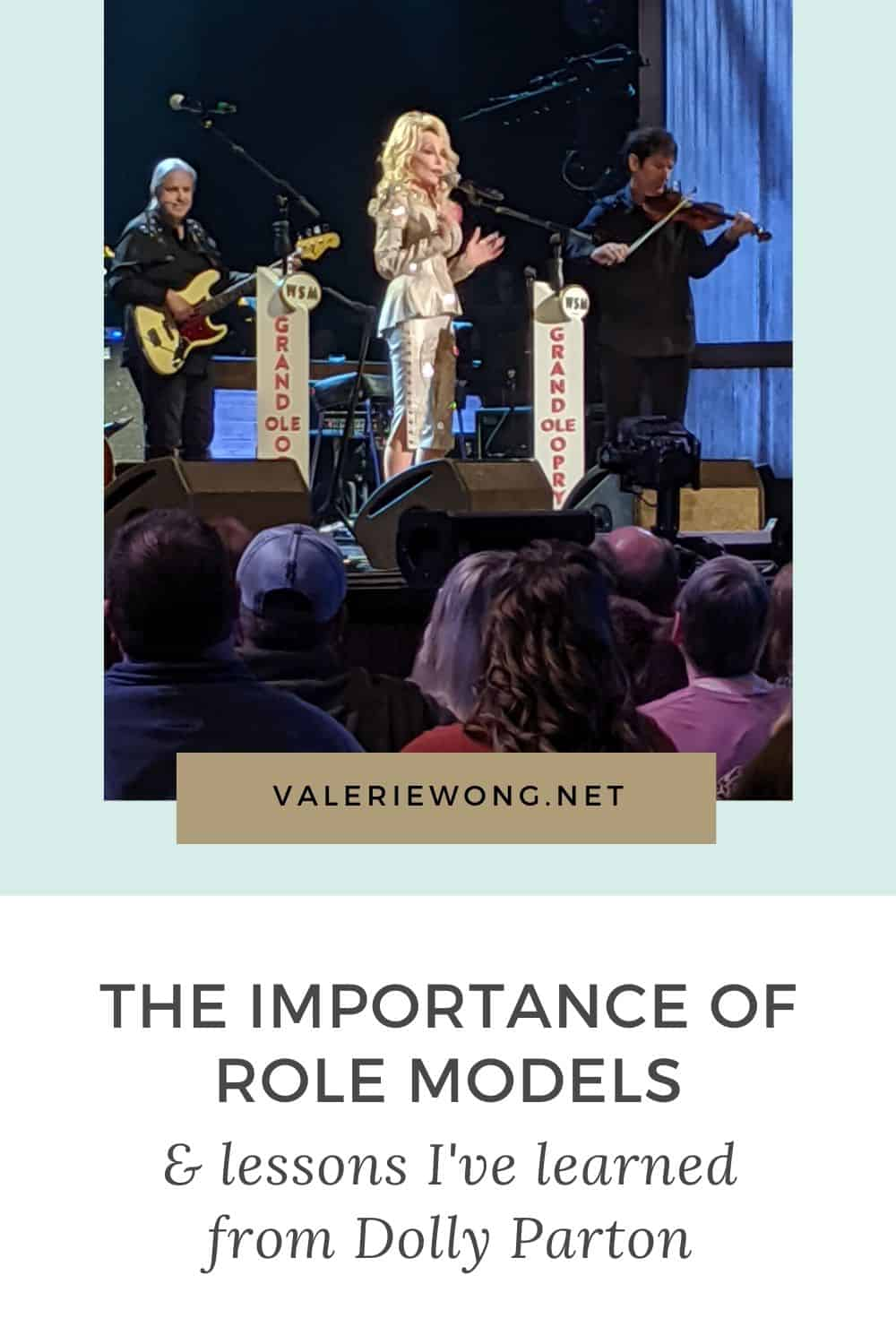 Lessons I've learned from Dolly Parton (& the value of having role models from afar) | Having role models is so vital to our professional & personal development and success. They provide inspiration, motivation, proof that a goal we aspire to can be achieved, and the wisdom gained from their own personal experiences. In this post, I'm sharing what I've learned from one of my role models, Dolly Parton. | Valerie Wong #personaldevelopment #inspiration #rolemodels #personalgrowth #dollyparton via @valeriewonglifecoach