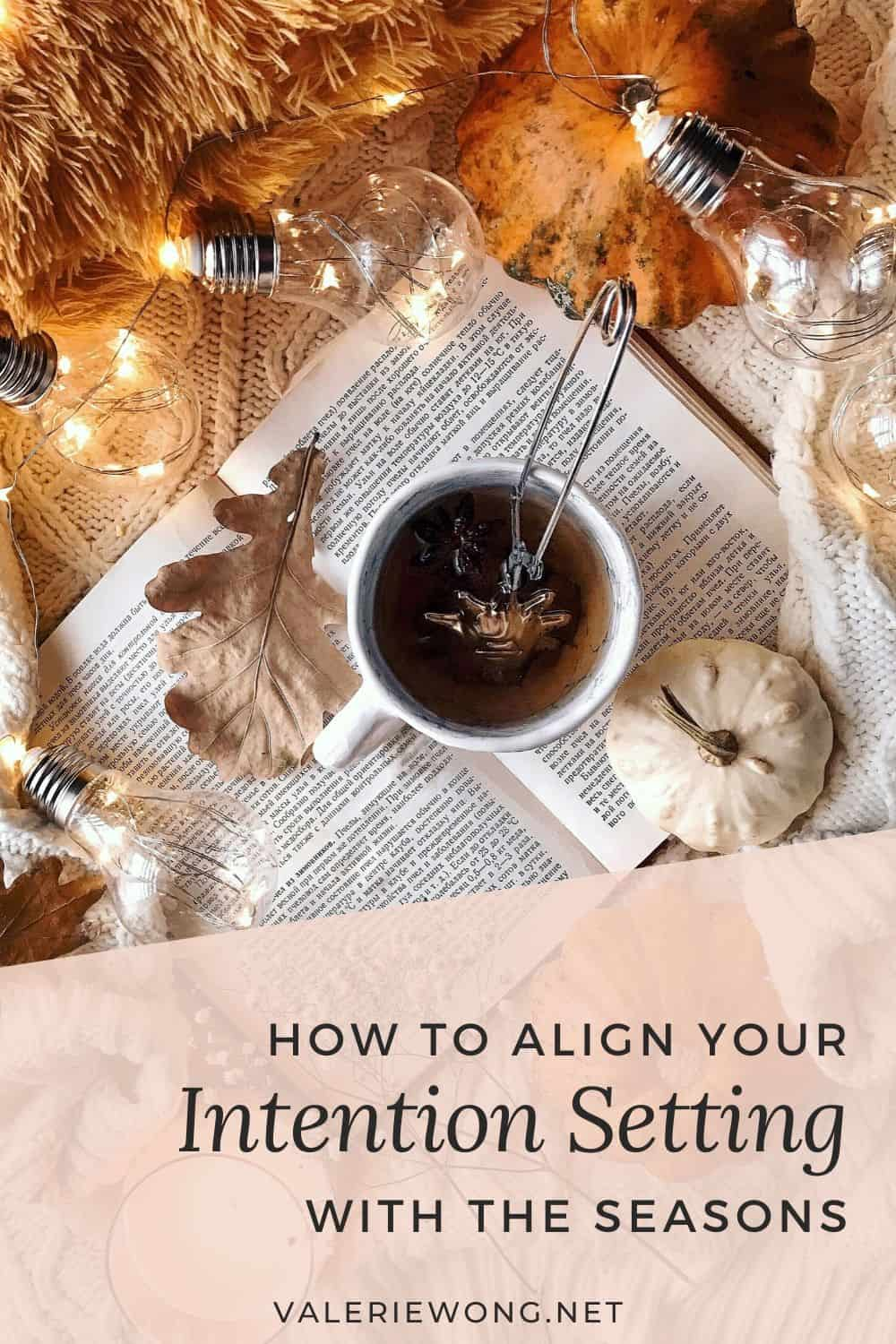 How to Set Goals Using the Seasons and Lunar Cycles | Align your intention setting & goal planning with the seasons & moon to use the energy of these natural cycles for a more feminine approach to achieving your personal, business, new year & life goals with greater ease. Read the post for ideas and inspiration, and download a FREE printable intention & goal setting worksheet. | Valerie Wong #intentionsetting #goalplanning #goalsetting #newyeargoals #goalsettingworksheet #goalplanningprintable via @valeriewonglifecoach